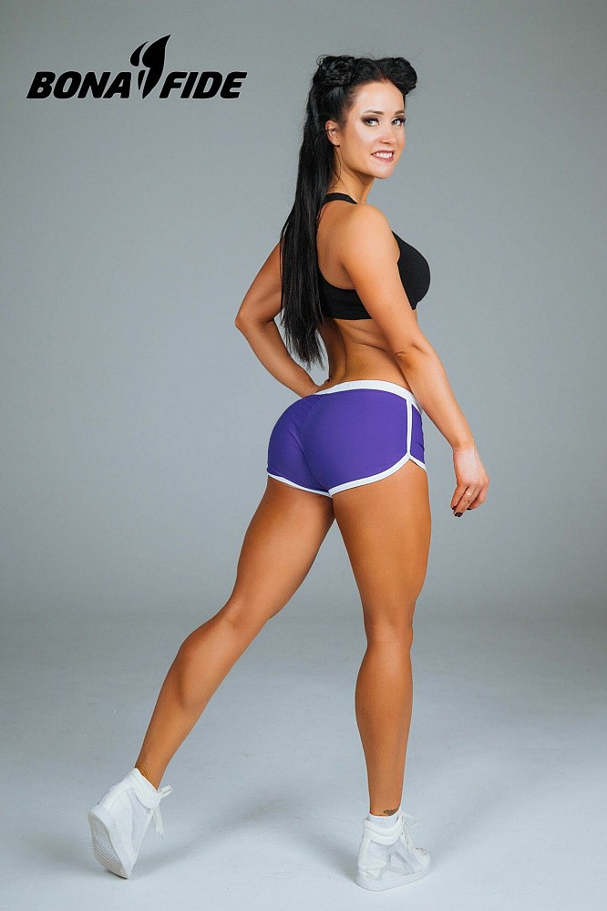 "Шорты Bona Fide: Shorts ""Purple & White"" 1"