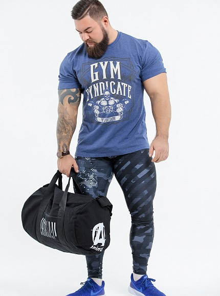 "Футболка DICH: Classic T-Shirt Blue Melanje ""Gym Syndicate"" 6"