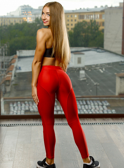 "Лосины Bona Fide: Oy - Vsyo Leggins ""Red"" 7"