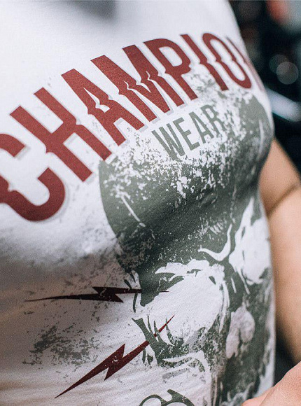 "DICH: Classic T-Shirt White ""Champion"" 1"
