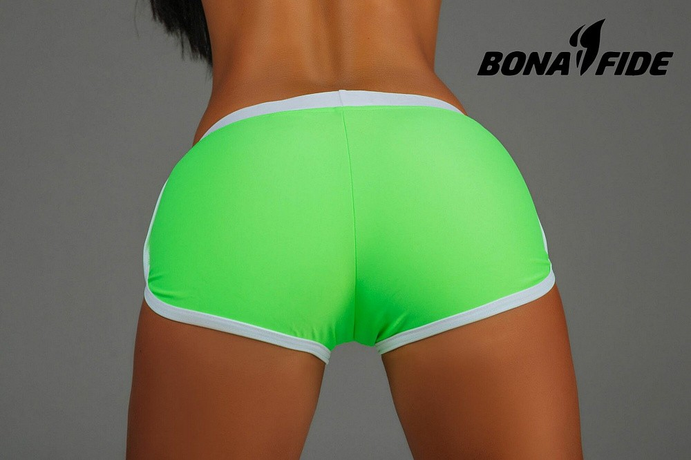 "Шорты Bona Fide: Shorts ""Acid Green & White"" 2"