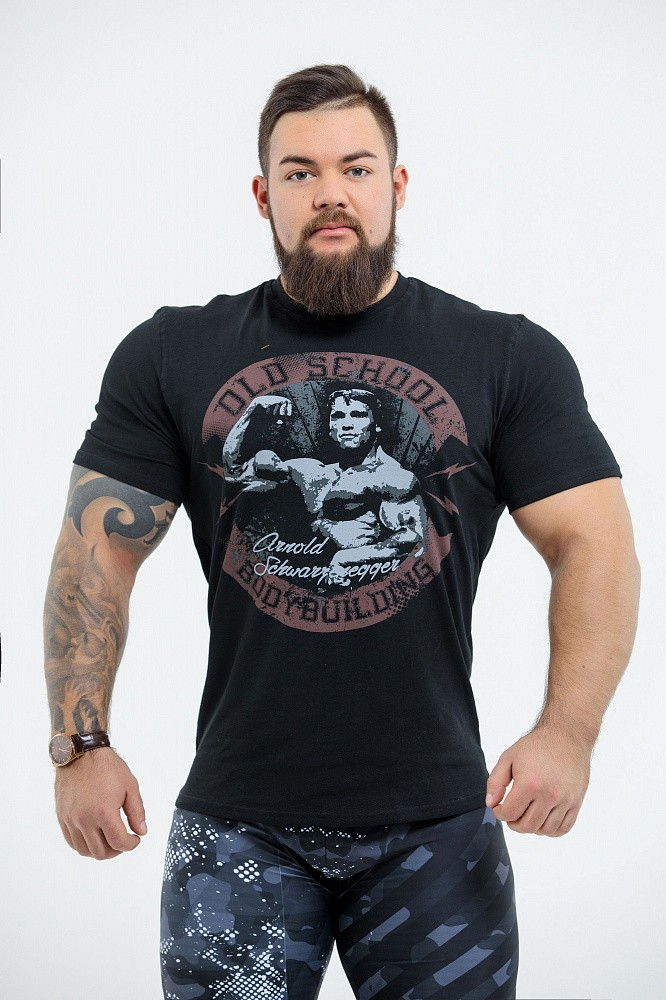 "Футболка DICH: Classic T-Shirt Black ""Arnold Old School"" 1"