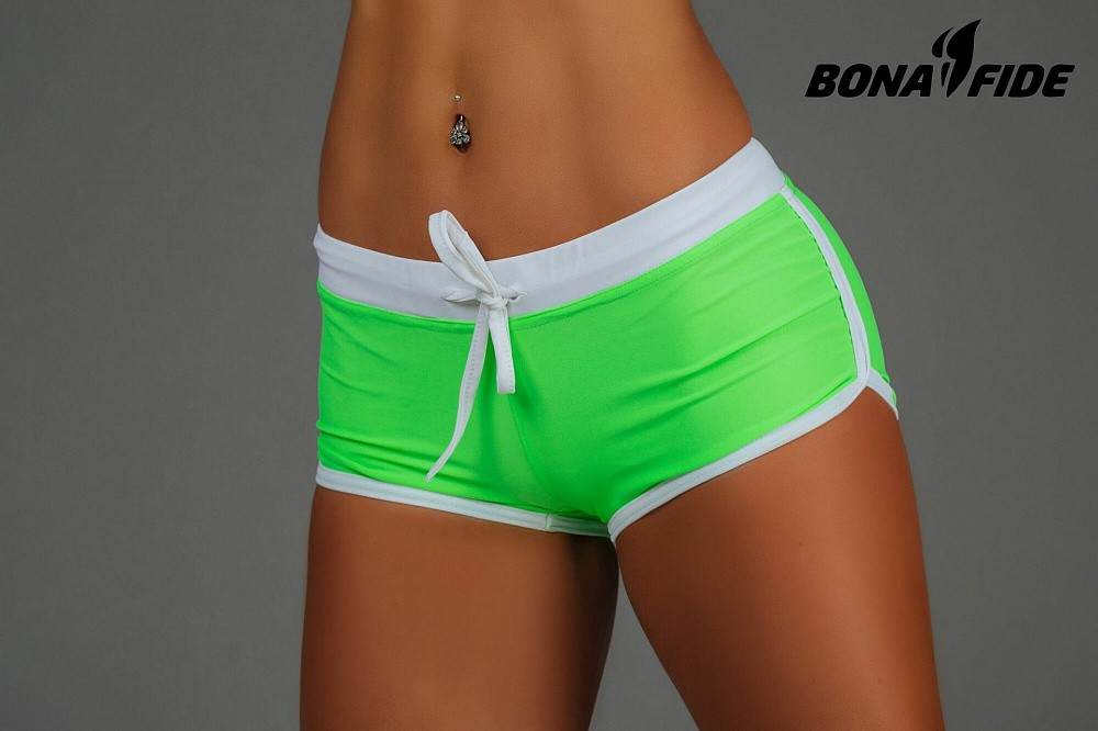 "Шорты Bona Fide: Shorts ""Acid Green & White"" 4"