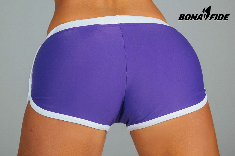 "Шорты Bona Fide: Shorts ""Purple & White"" 4"