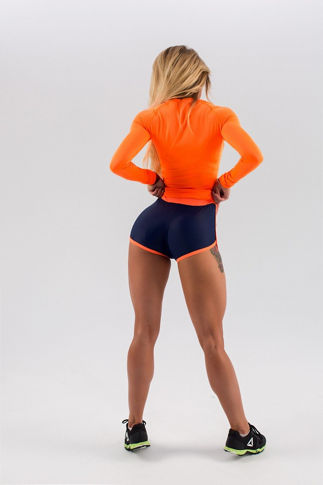 "Шорты Bona Fide: Shorts ""Dark Blue & Orange"" 8"