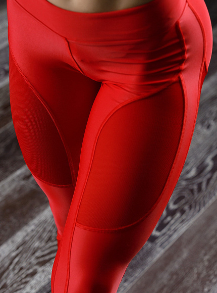 "Лосины Bona Fide: Oy - Vsyo Leggins ""Red"" 1"