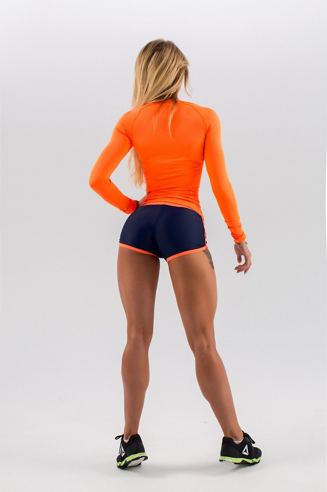 "Шорты Bona Fide: Shorts ""Dark Blue & Orange"" 7"