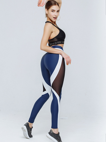 "Лосины Bona Fide: X-Girl ""Total Blue & White"" 1"