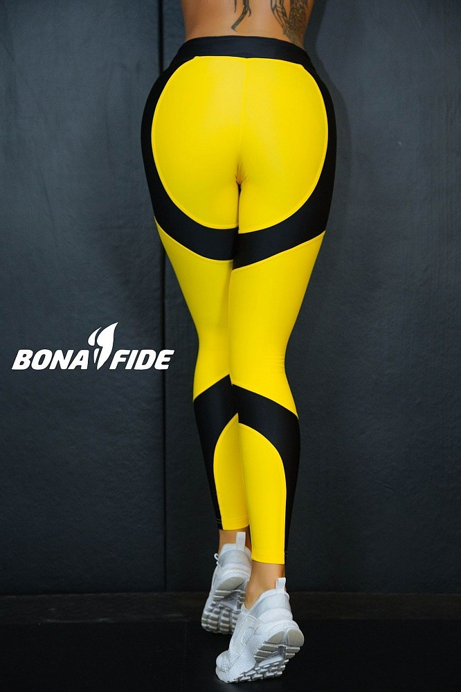 "Лосины Bona Fide: Lara Croft ""Yellow & Black"" 10"