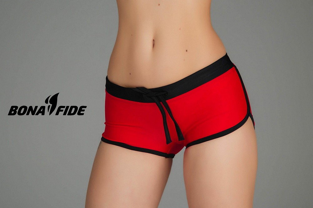 "Шорты Bona Fide: Shorts ""Red & Total Black"" 2"