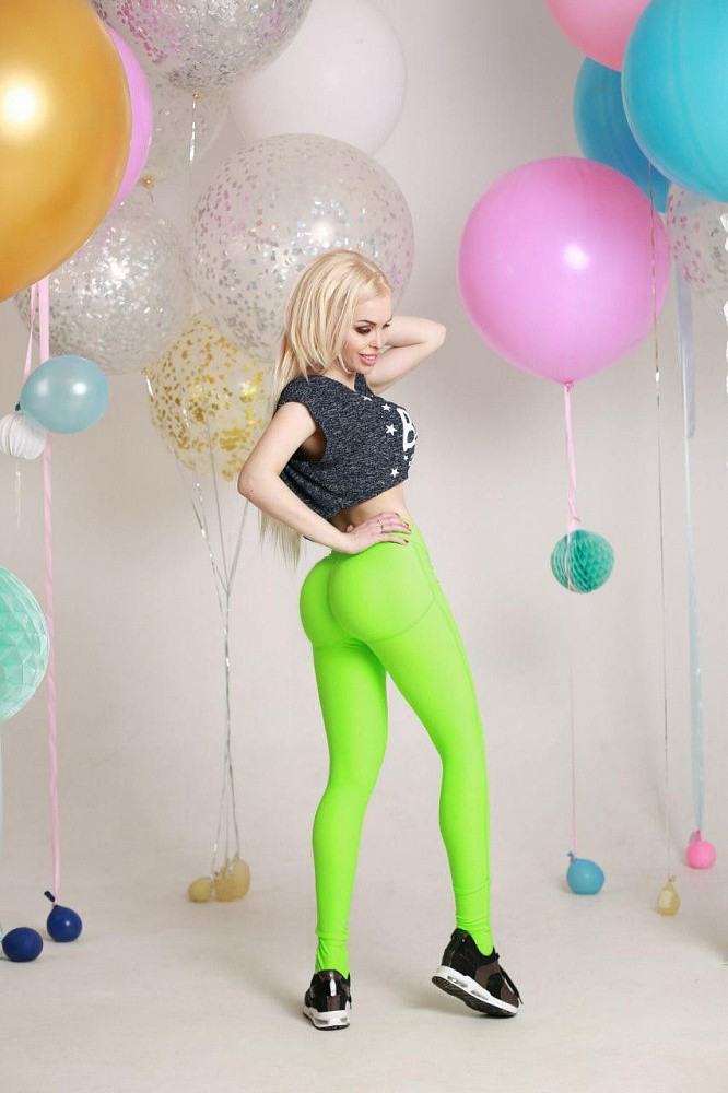 "Лосины Bona Fide: Push-Up ""Acid Green"" 3"