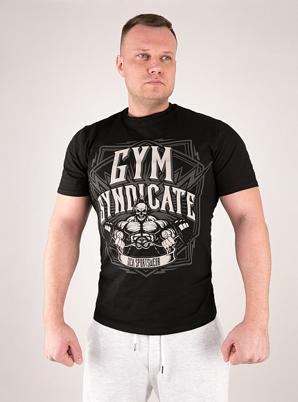 "Футболка DICH: Classic T-Shirt Black ""Gym Syndicate"" 3"