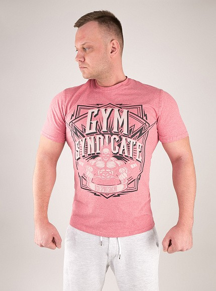 "Футболка DICH: Classic T-Shirt Cayenne Red Melanje""Gym Syndicate"" 4"