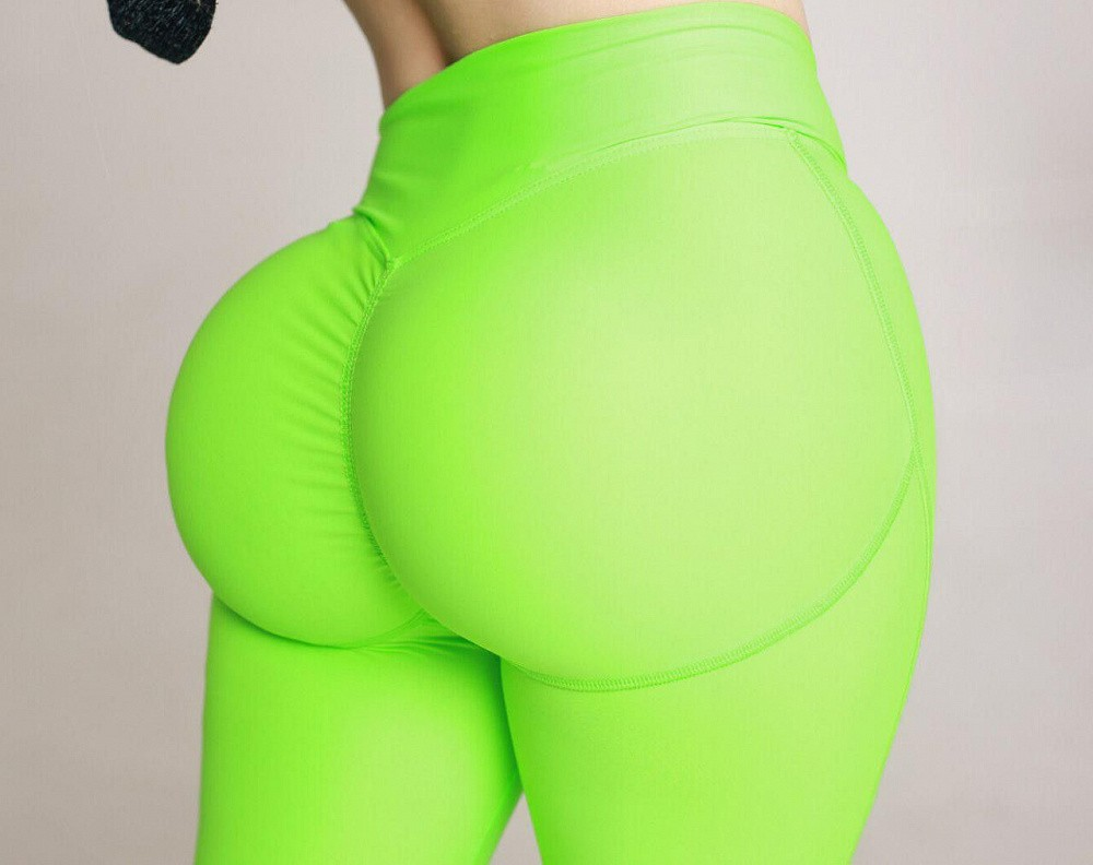 "Лосины Bona Fide: Push-Up ""Acid Green"" 1"