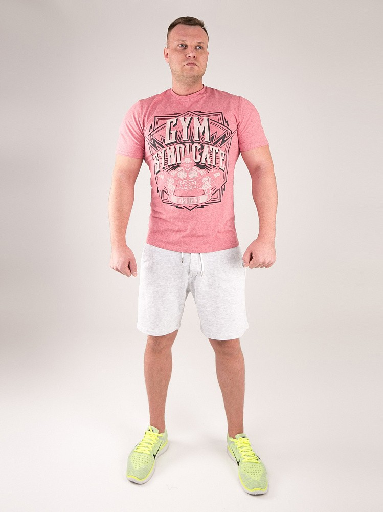 "Футболка DICH: Classic T-Shirt Cayenne Red Melanje""Gym Syndicate"" 3"
