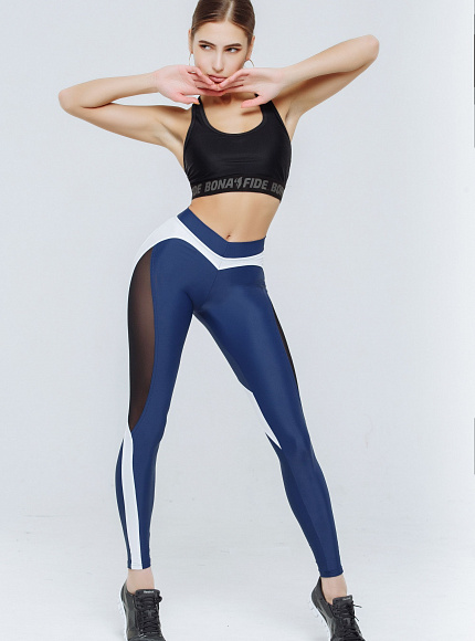 "Лосины Bona Fide: X-Girl ""Total Blue & White"" 2"