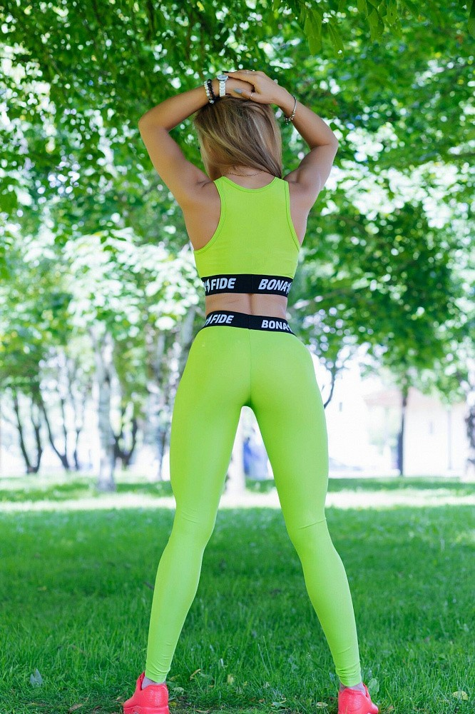 "Лосины Bona Fide: Bona GoldStandard  ""Light Green"" 4"