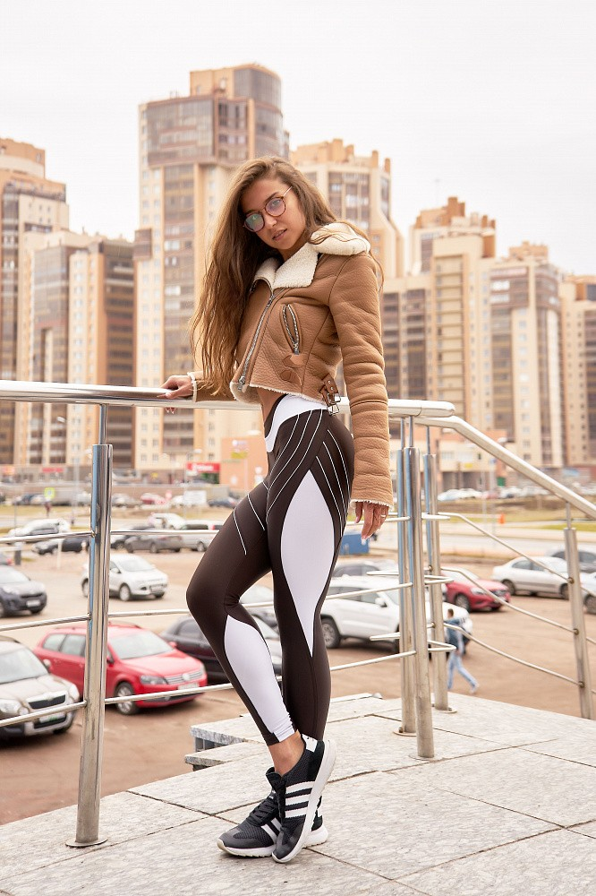 "Лосины Bona Fide: FuckNike ""Total Brown & White"" 3"