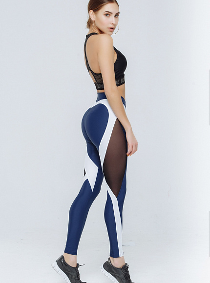 "Лосины Bona Fide: X-Girl ""Total Blue & White"" 5"