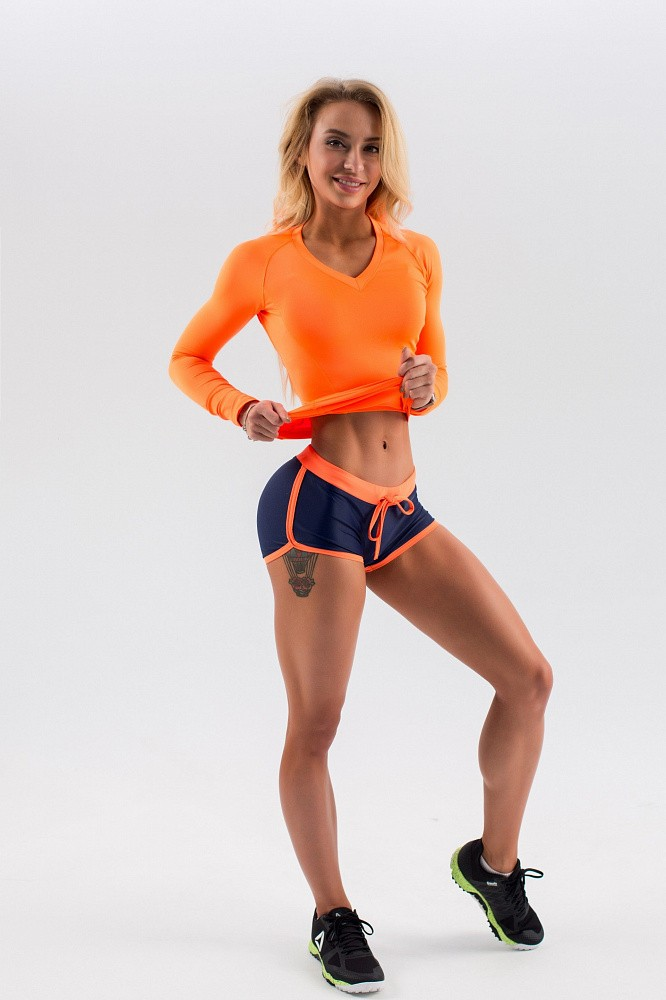"Шорты Bona Fide: Shorts ""Dark Blue & Orange"" 1"